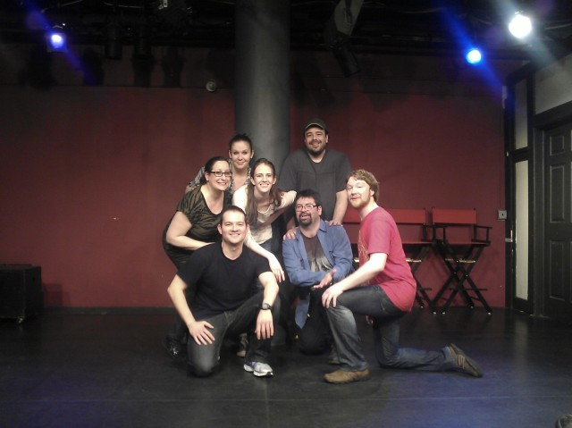 Back Row: Evie Aronson, Laura Isakson, Maddie O'Hara and Jamie Maloney Front Row: Alex Salazar, Nikolai Solonski and Kevin Gaul