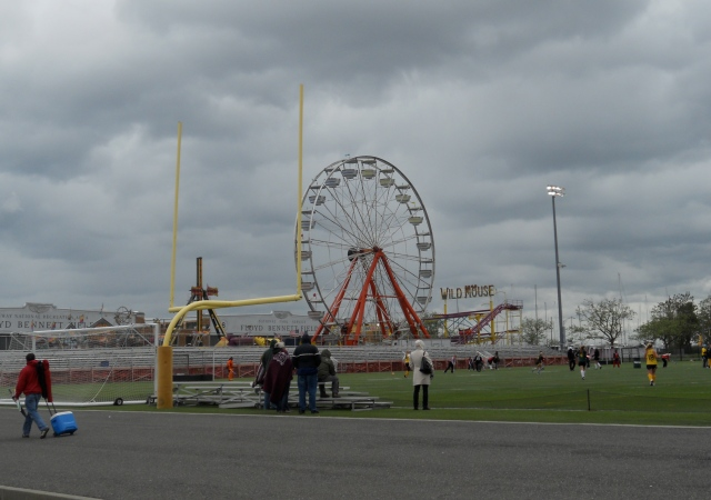 Ferris Wheel and the goal post